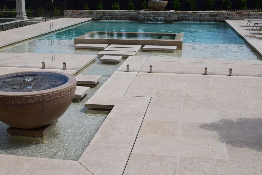 Yarrabee & Castlemaine Stone Solutions, paving, pool interior, pool coping, limestone