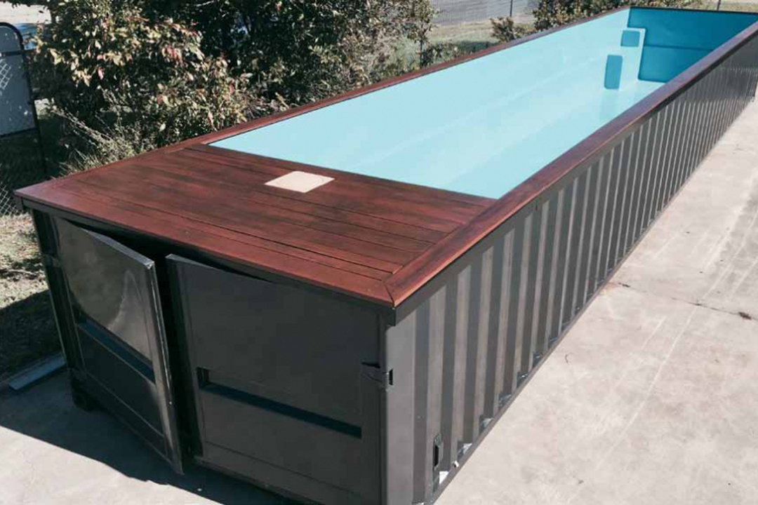 shipping container pools melbourne pool and outdoor design. Black Bedroom Furniture Sets. Home Design Ideas