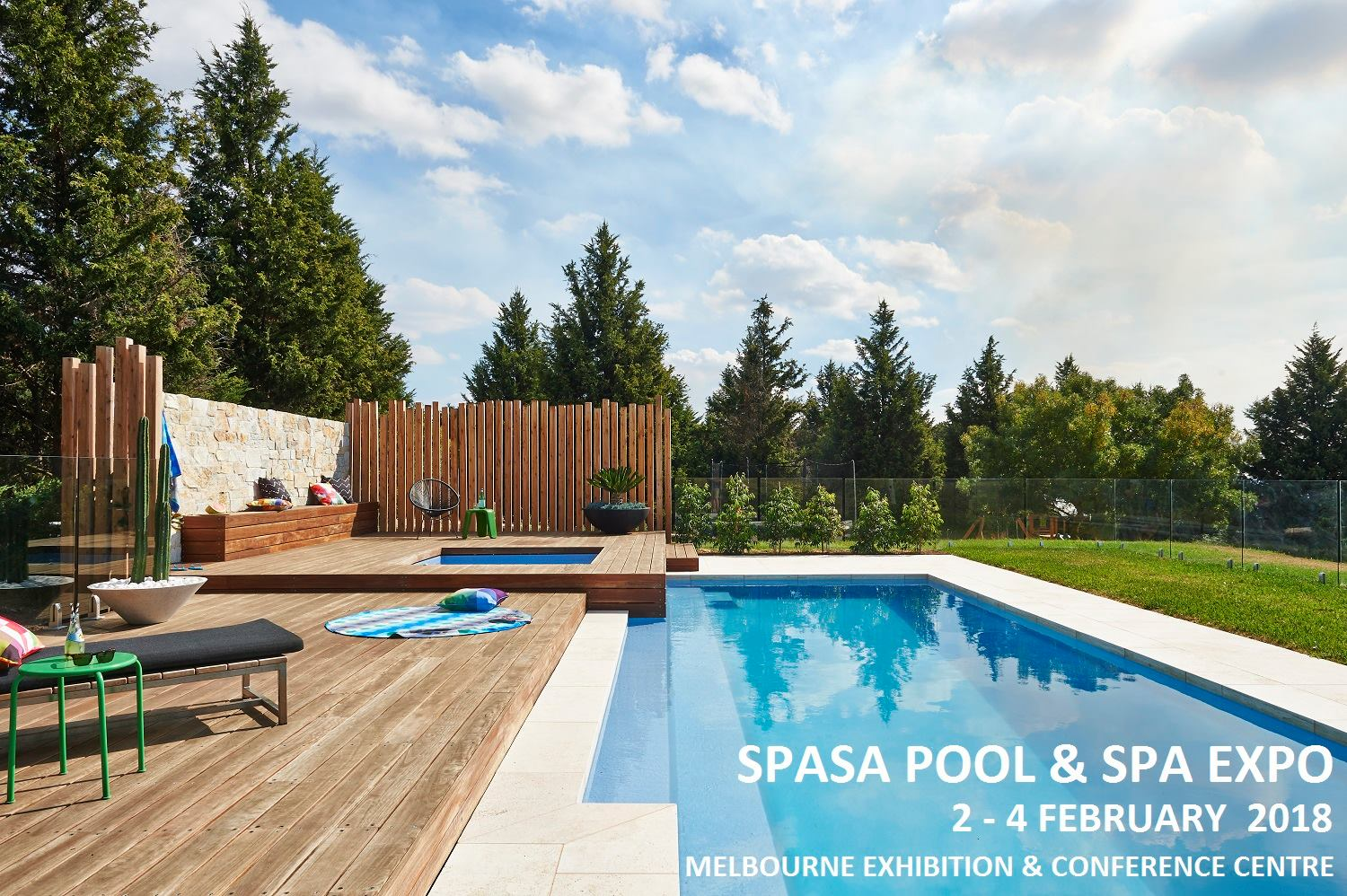 Spasa pool spa expo 2018 melbourne pool and outdoor design for Pool show melbourne