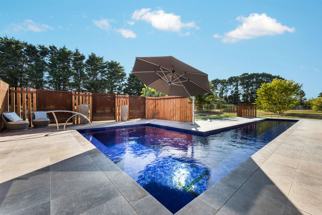 Acquavita Pools and Spas Pool Builder Outdoor Umbrella Landscape